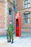 Denmark. Copenhagen. Guard near Rosenborg Castle Stock Photography