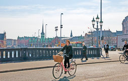 Denmark. Copenhagen. High Bridge in the center of the city Stock Image