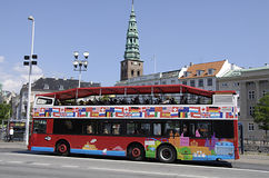 DENMARK_COPENHAGEN SIGHT SEEING BUS Royalty Free Stock Image