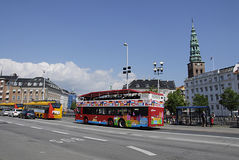 DENMARK_COPENHAGEN SIGHT SEEING BUS Royalty Free Stock Photos