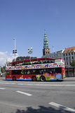 DENMARK_COPENHAGEN SIGHT SEEING BUS Royalty Free Stock Photo