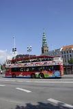 DENMARK_COPENHAGEN SIGHT SEEING BUS Royalty Free Stock Photo