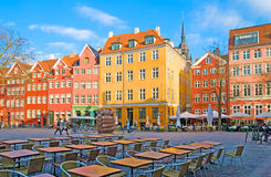 Denmark. Copenhagen. Square in the center of the city Stock Photos