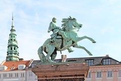 Denmark. Copenhagen. Statue of Absalon Stock Images