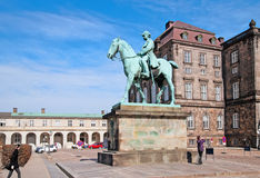 Denmark. Copenhagen. Statue of Christian IX Stock Photography