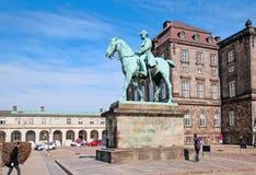 Denmark. Copenhagen. Statue of Christian IX Stock Photography