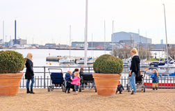 Denmark. Copenhagen. Women with children Stock Image