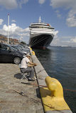 DENMARK_cruise-Schiffskönigin Victoria Stockbilder