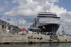 DENMARK_cruise skeppdrottning victoria Royaltyfri Fotografi