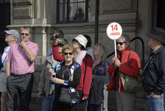 DENMARK_CRUSIE SHIP TOURISTS Royalty Free Stock Images