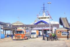 denmark Déchargement du ferry Photographie stock libre de droits