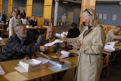 DENMARK_DANES CASTING VOTES Royalty Free Stock Photos