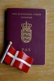 DENMARK_DANISH护照 图库摄影