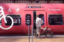 DENMARK_DANISH状态火车 库存图片