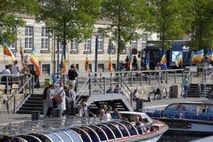 DENMARK_DANISH naród ŚWIĘTUJE FLAF dzień Zdjęcia Royalty Free