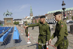 DENMARK_DANISH naród ŚWIĘTUJE FLAF dzień Zdjęcia Stock