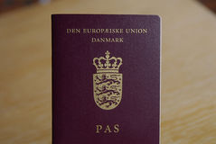 DENMARK_DANISH PASSPORT Stock Images