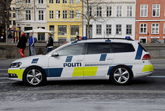 DENMARK_danish police auto Royalty Free Stock Image
