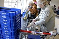 DENMARK_DANMARK_aldi supermarket Royalty Free Stock Images