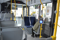 DENMARK_DANMARK_new bus Stock Photography