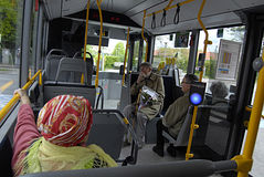 DENMARK_DANMARK_new bus Royalty Free Stock Image
