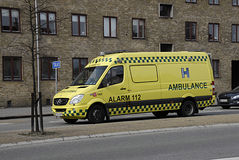 DENMARK_DANMARK_sick ambulance Stock Images