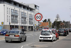 DENMARK_DANMARK_TRAFFIC prędkość LIMT Zdjęcie Stock
