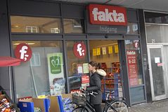 DENMARK_DISCOUNT CHAINS SHOPS Stock Image