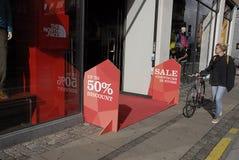 DENMARK_discount hasta el 50% Fotografía de archivo