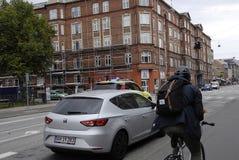DENMARK_DOCTOR nagłego wypadku samochód Zdjęcie Royalty Free