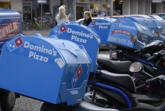 DENMARK_DOMINOS PIZZA Royalty Free Stock Photos