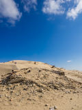 House Ruin in sanddune. I guess this was a house a long time ago Royalty Free Stock Image