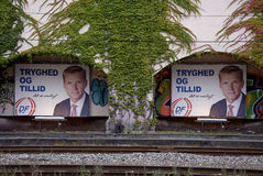 DENMARK_ELECTION COMPAING BILLBOARDS Royalty Free Stock Photo