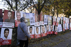 DENMARK_election posters_valg plakter Royalty Free Stock Photography