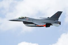 denmark f16-fighterjet Arkivbild
