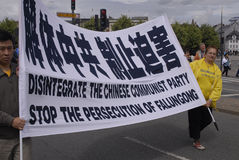 DENMARK FALUN GONG PROTEST AGAINST CHINA Stock Image