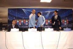 DENMARK_FC KOBENHAVN PRESS CONFERENCE Stock Photo