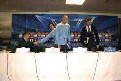 DENMARK_FC KOBENHAVN PRESS CONFERENCE Stock Photos