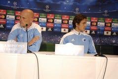 DENMARK_FC KOBENHAVN PRESS CONFERENCE Royalty Free Stock Photo