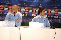 DENMARK_FC KOBENHAVN PRESS CONFERENCE Stock Photography