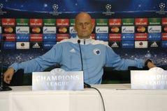 DENMARK_FC KOBENHAVN PRESS CONFERENCE Royalty Free Stock Image
