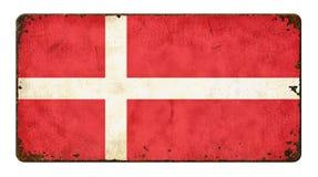 denmark flagę Obrazy Stock