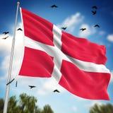 denmark flagę Fotografia Royalty Free