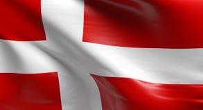 denmark flagę Zdjęcia Royalty Free