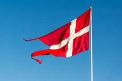 denmark flagę Fotografia Stock