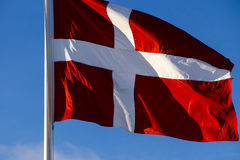 denmark flagę Obraz Royalty Free