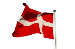denmark flagę Obrazy Royalty Free