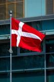 denmark flagę Obraz Stock