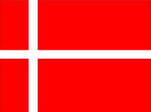 Denmark flag Stock Images