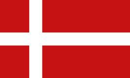 Denmark flag. With red and white colors